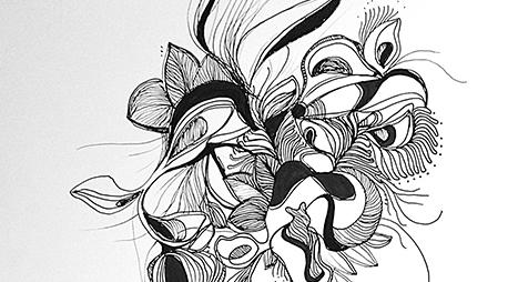 Dessin Au Trait Noir cé. cécile reverdy / illustration + graphisme + motion + art